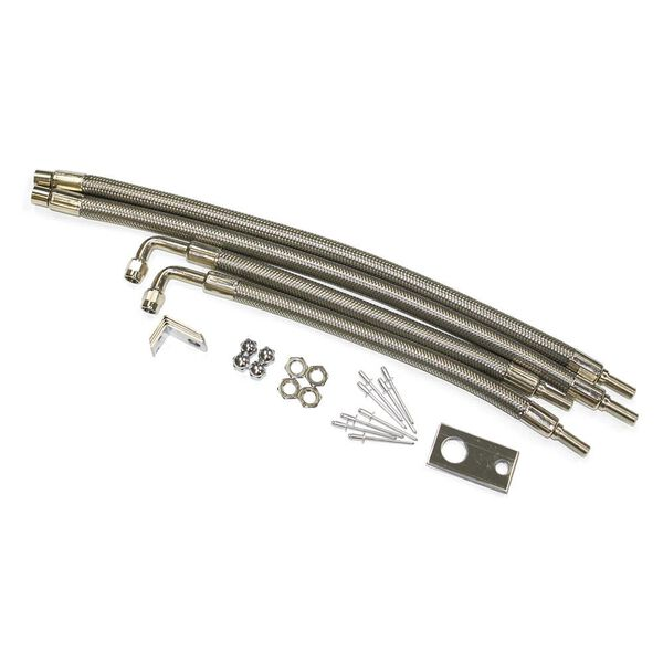 "Dual Tire Inflators - Hub Mount Stainless Steel - 4 hose kit for 22"" wheels"