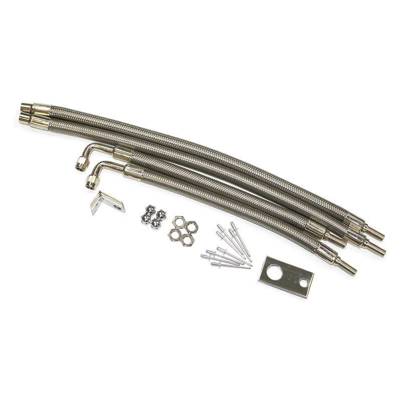 """Dual Tire Inflators - Hub Mount Stainless Steel - 4 hose kit for 22"""" wheels image number 1"""