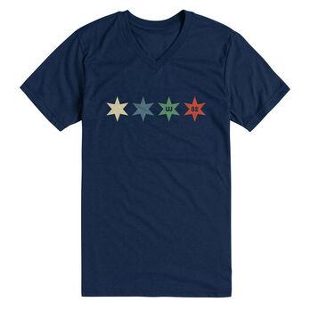 W82 Men's Stars Short-Sleeve V-Neck Tee