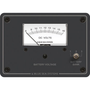 Blue Sea Systems DC Analog Voltmeter Panel, 8 - 16V DC