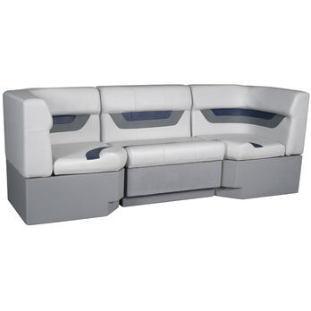 "Designer Pontoon Furniture - 86"" Rear Seat Package, Sky Gray/Navy"