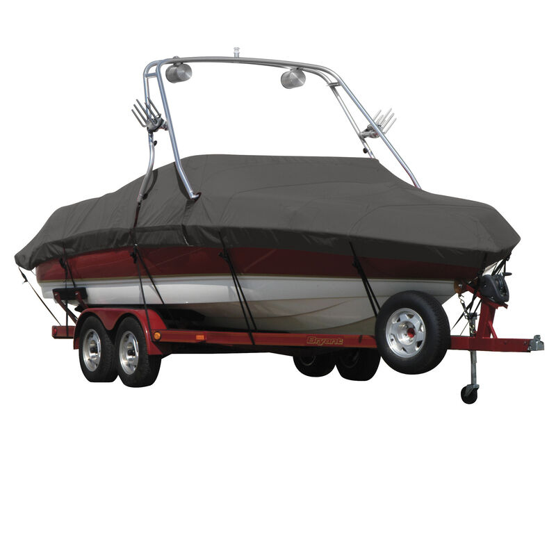 Exact Fit Covermate Sharkskin Boat Cover For MALIBU SUNSETTER 23 XTI w/TITAN TOWER CUTOUTS COVERS SWIM PLATFORM image number 7