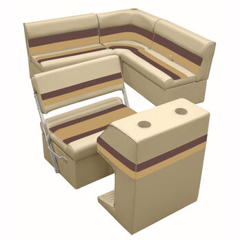 Deluxe Pontoon Furniture w/Classic Base - Rear Group Package E, Sand/Chestnt/Gld