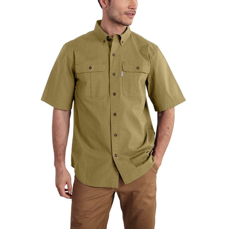 Carhartt Men's Foreman Solid Short-Sleeve Work Shirt image number 1