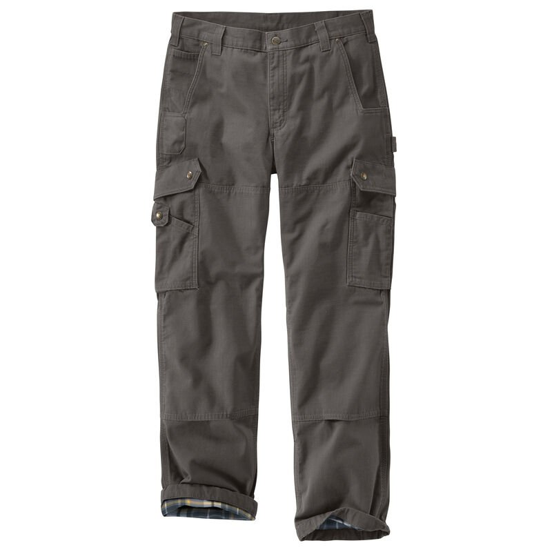 Carhartt Men's Ripstop Cargo Work Flannel-Lined Pant image number 3