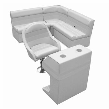 Deluxe Pontoon Furniture with Toe Kick Base - Group 2 Package, Gray