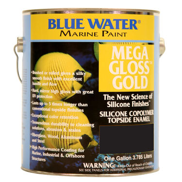 Blue Water Mega Gloss Gold Silicone Copolymer, Quart