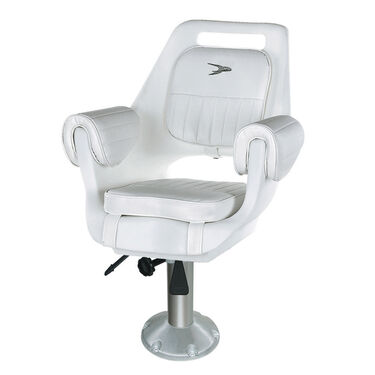 "Wise Deluxe Pilot Chair w/12""-18"" Adjustable Pedestal and Seat Slide"
