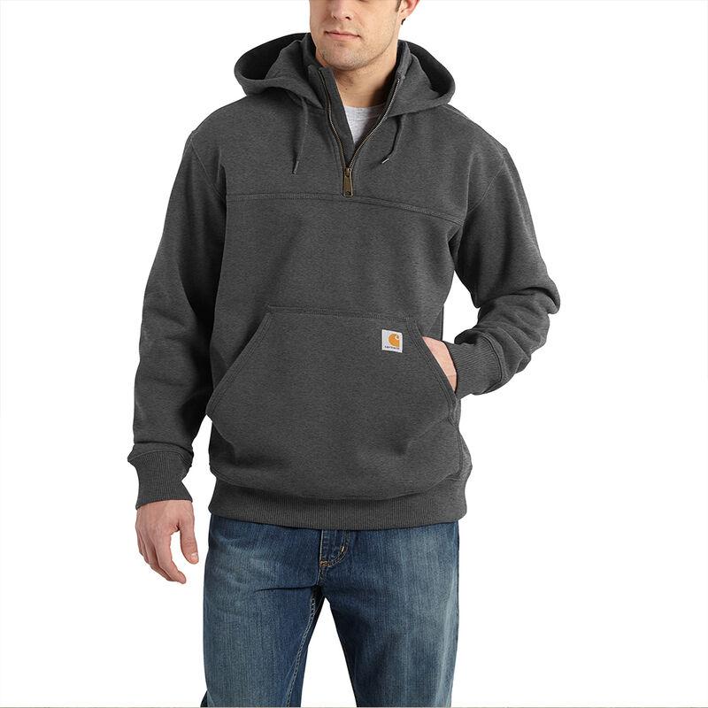 Carhartt Men's Rain Defender Paxton Heavyweight Hooded Zip Mock Sweatshirt image number 2