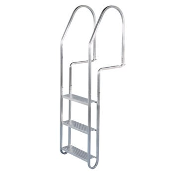 Dock Edge 3-Step Aluminum Dock Ladder with Quick Release