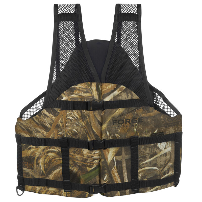 Forge Fishing V-Flow Air Mesh Vest, Max-5 Camo image number 1