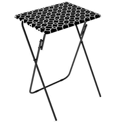 Black Folding TV Tray Tables, 2 Pack