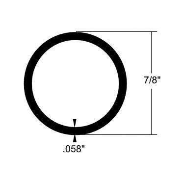 "Taco B-Lite Aluminum Round Tubing, 20'L x 7/8""W"