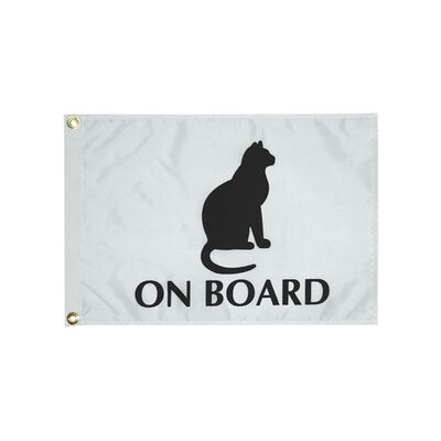 "Cat on Board Flag, 12"" x 18"""