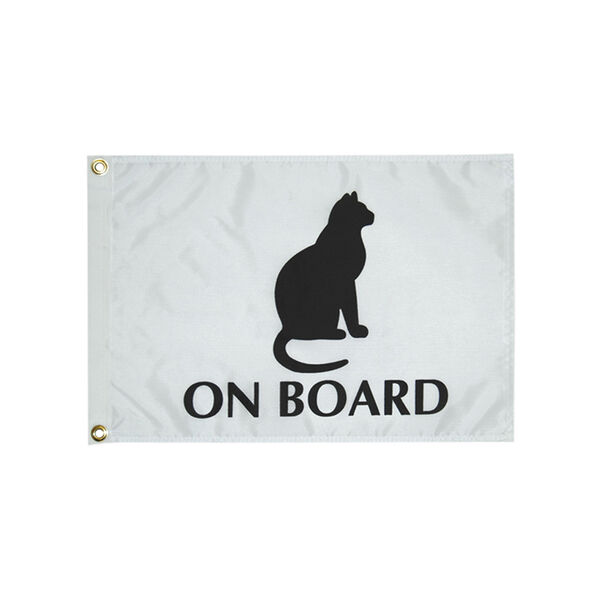 "Cat on Board Flag, 12"" x 18"""