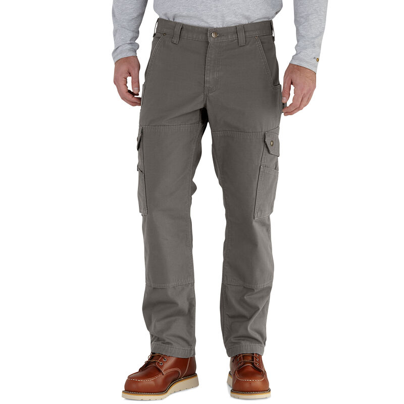 Carhartt Men's Ripstop Cargo Work Flannel-Lined Pant image number 1