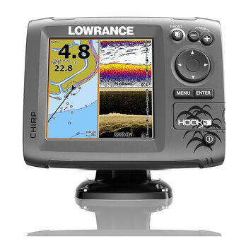 Lowrance HOOK-5 CHIRP DSI Fishfinder Chartplotter w/C-MAP Charts