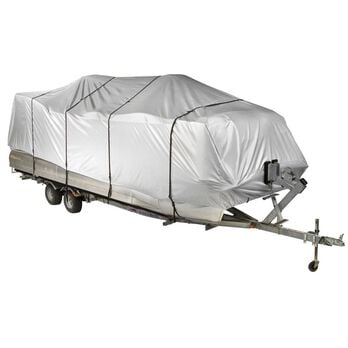 """Covermate HD 600 Pontoon Boat Mooring And Storage Cover, 17'-20'L, 102"""" Max Beam"""