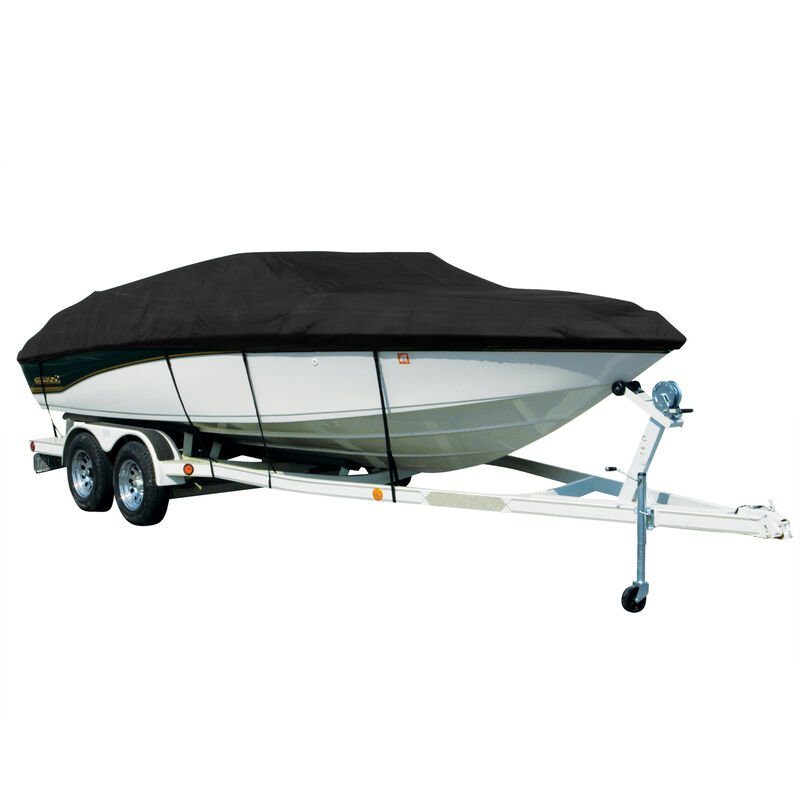 Covermate Sharkskin Plus Exact-Fit Cover for Chaparral 196 Ssi  196 Ssi W/Bimini Laid Aft I/O image number 1