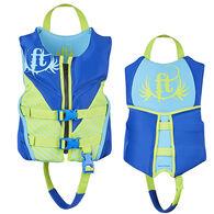 Full Throttle Child Hinged Rapid-Dry Flex-Back Vest - Blue
