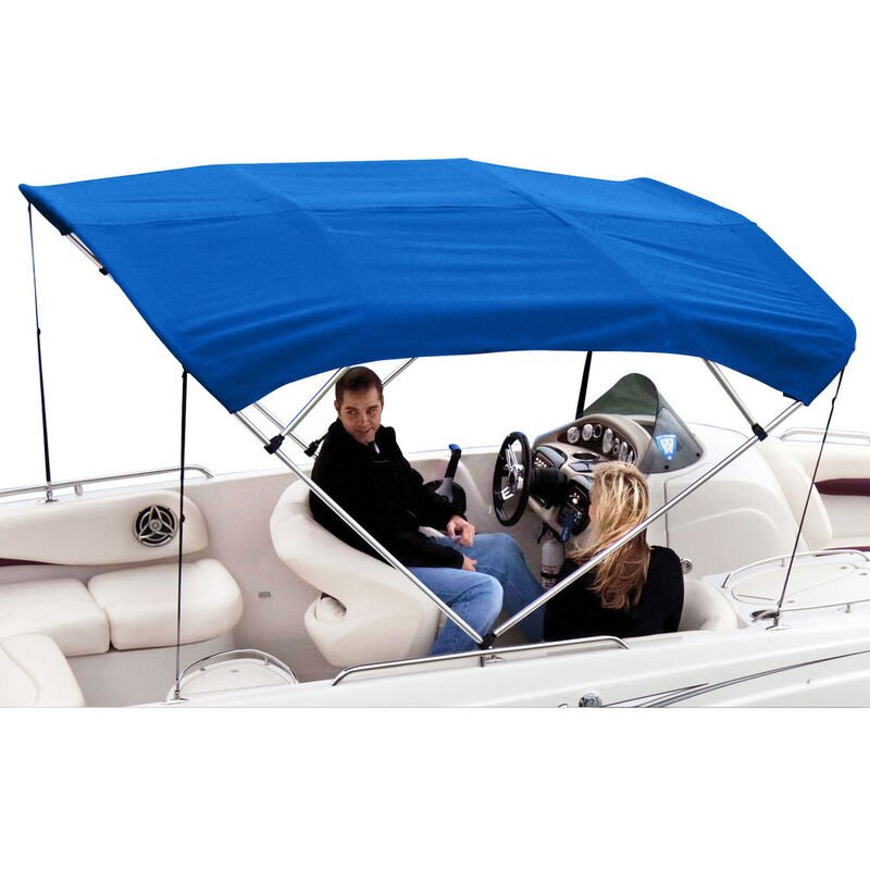 """Shademate Polyester 4-Bow Bimini Top, 8'L x 54""""H, 91""""-96"""" Wide image number 1"""