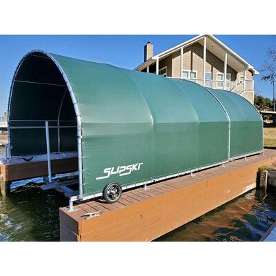 The Slipski Boat Garage Retractable Boat Dock Cover