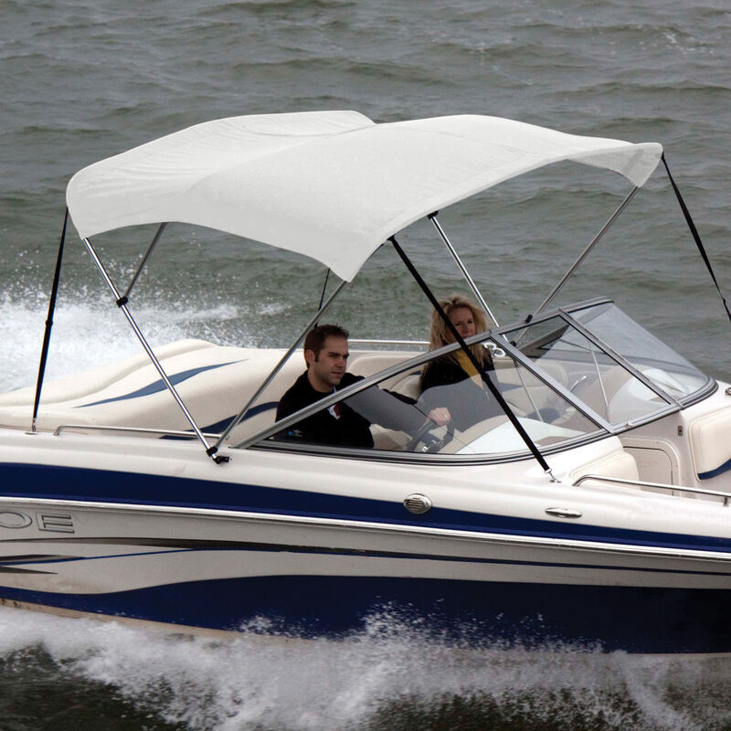 """Shademate Polyester 3-Bow Bimini Top, 5'L x 32""""H, 54""""-60"""" Wide image number 5"""