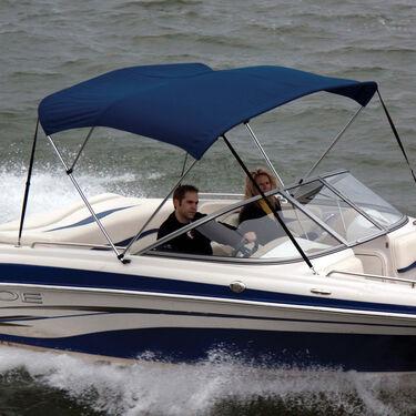 Shademate Sunbrella Stainless 3-Bow Bimini Top 6'L x 36''H 91''-96'' Wide