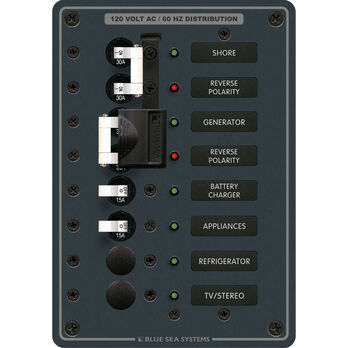 Blue Sea Systems AC 2 Sources + 4 Positions Panel