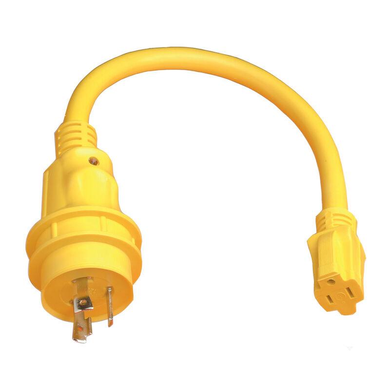 Marinco Pigtail Adapter, 15A 125V / 30A 125V image number 1
