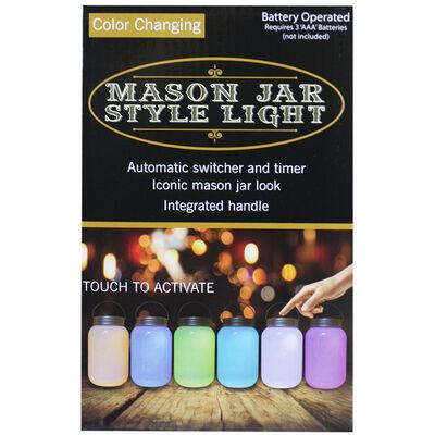 Color-Changing Mason Jar Style Light