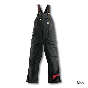Carhartt Men's Duck Quilt-Lined Zip-To-Thigh Bib Overall