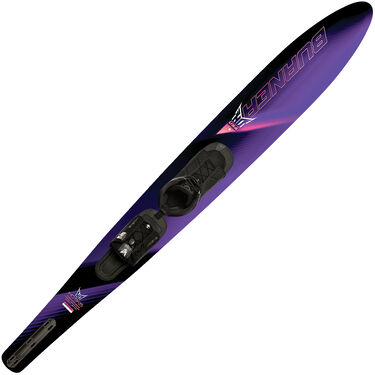 HO Women's Burner Slalom Waterski With Free-Max Binding And Rear Toe Plate
