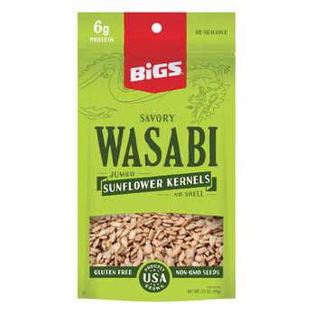 Bigs Savory Wasabi Shell-Less Sunflower Seeds, 3.5 oz.