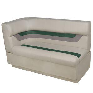 Toonmate Designer Pontoon Right-Side Corner Couch - TOP ONLY - Platinum/Evergreen/Mocha