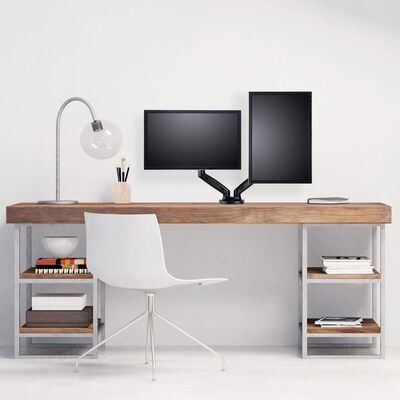 """Mount 17""""-27"""" Gas Spring Desk Dual Monitor- Double Arm"""