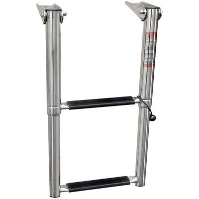 Overton's Top Mounted 2 Step Stainless Steel Folding Swim Platform Ladder