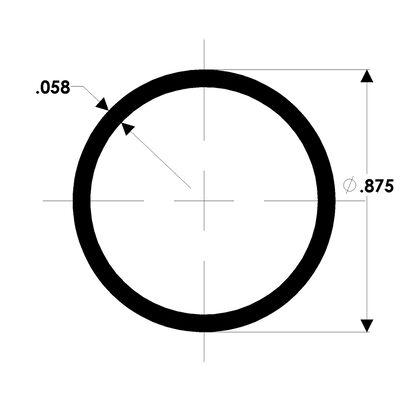 TACO Marine Aluminum Drawn Tube, 7/8'' X .058'', 20 Feet