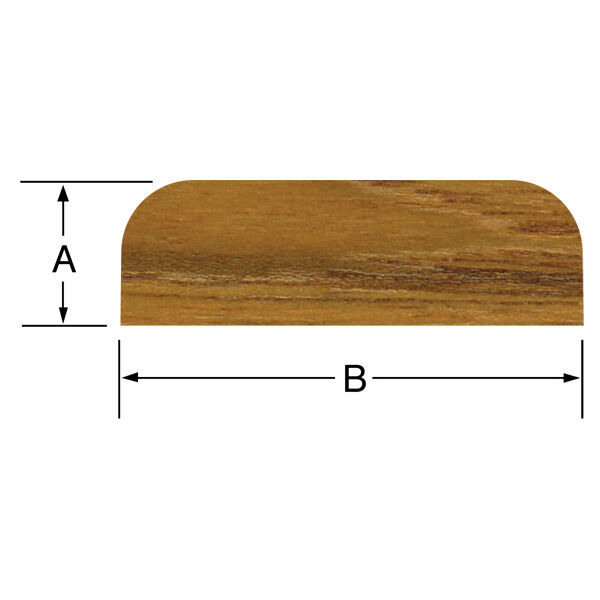 "SeaForce Teak Batten, 5'L x 1-7/8""W (B) x 3/8"" thick (A)"