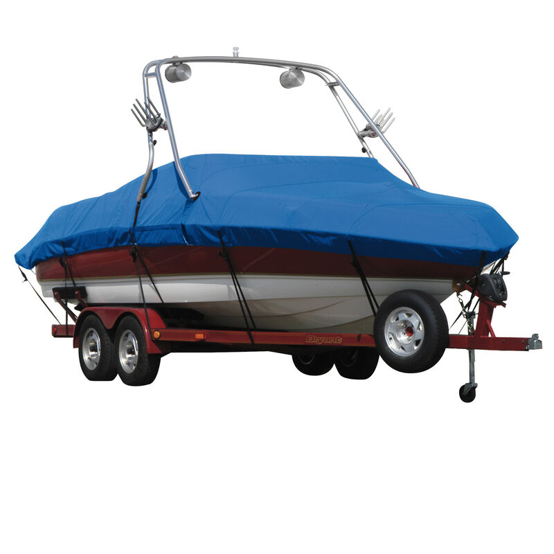 Exact Fit Covermate Sharkskin Boat Cover For SEA RAY 200 SUNDECK w/XTREME TOWER image number 1