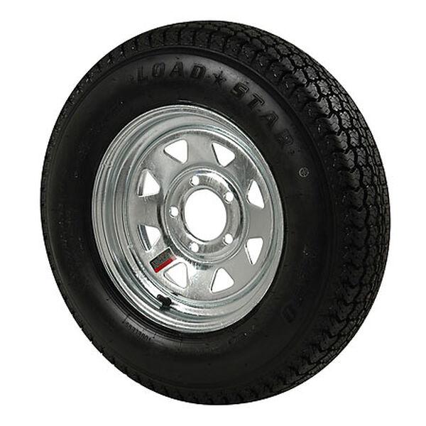 Kenda Loadstar 175/80 x 13C Bias Trailer Tire w/5-Lug Galvanized Spoke Rim