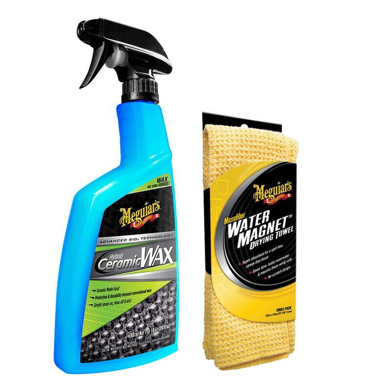 "Meguiar's Hybrid Ceramic Wax w/Water Magnet Microfiber Drying Towel - 22"" x 30"" image number 1"