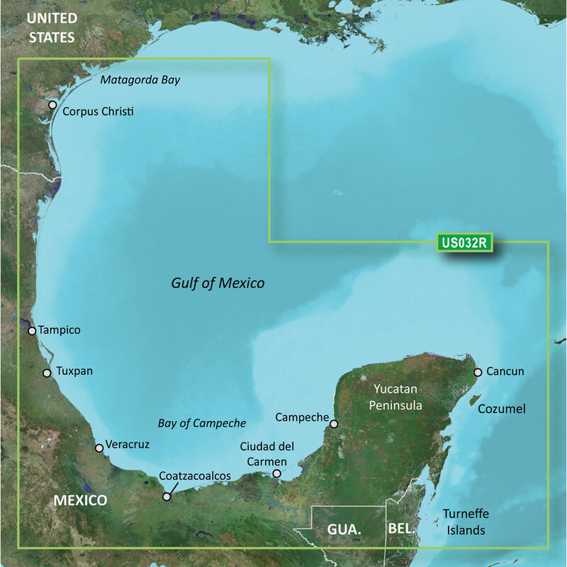 Garmin BlueChart g2 Vision HD Cartography, Southern Gulf Of Mexico image number 1
