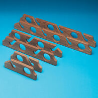 "SeaForce Teak Six Rod Holder Storage Rack, 22.5""L"
