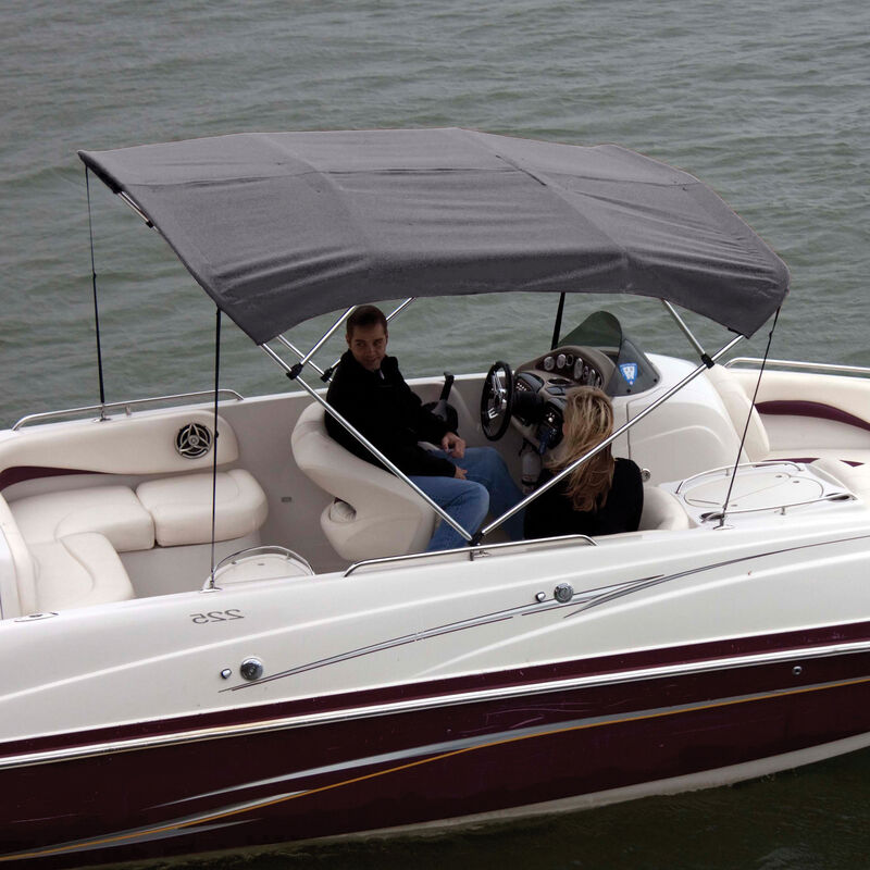 """Shademate Bimini Top Polyester Fabric and Boot Only, 4-Bow 8'L, 42""""H, 79""""-84""""W image number 9"""