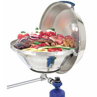 Marine Kettle Gas Grill with Hinged Lid, Party Size