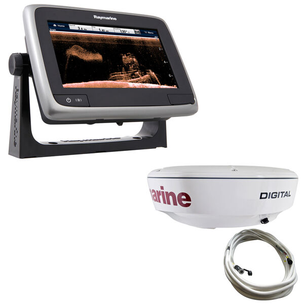 """Raymarine a78 MFD With TM CPT-100 Transducer And 18"""" RD418D Dome Radar"""