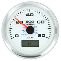 "Sierra White Premier Pro 3"" GPS Speedometer With LCD, 80 MPH"