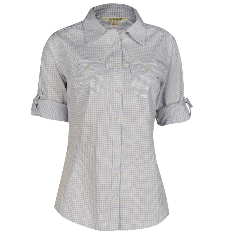 Ultimate Terrain Women's Trailhead Bug Repel Long-Sleeve Plaid Shirt image number 12
