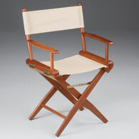 Whitecap Teak Director's Chair w/Natural Seat Covers